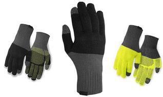 rokavice giro wi merino knit wool gray/wild lime