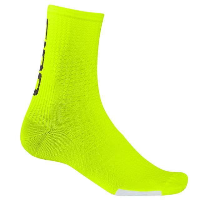 nogavice giro hrc team highlight yellow/black