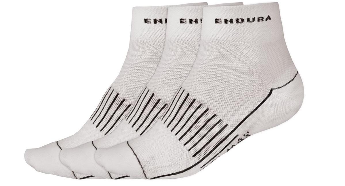 nogavice endura coolmax race ii 3-pack white