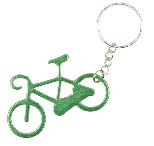 obesek bike key green
