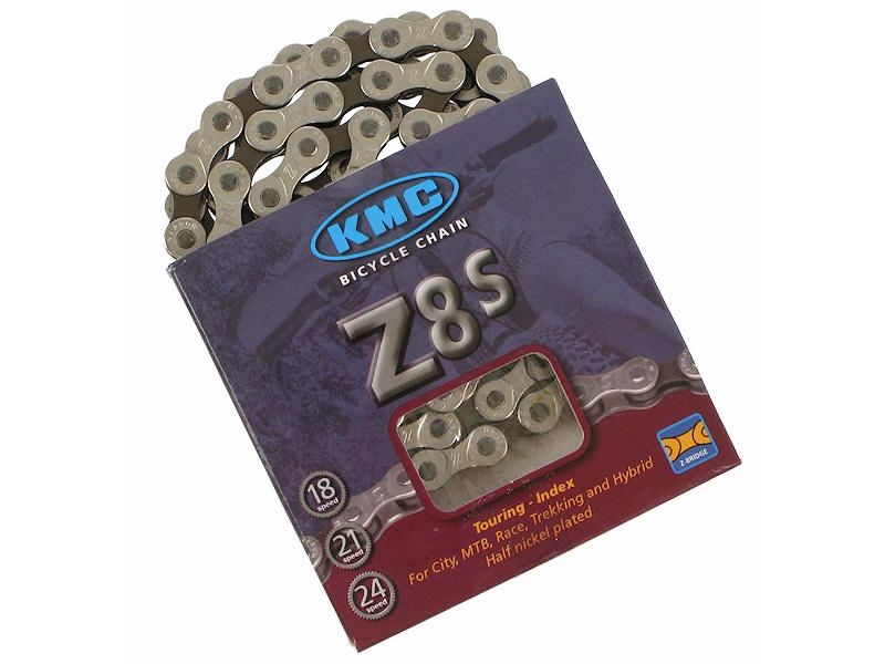veriga kmc z8s  silver/brown