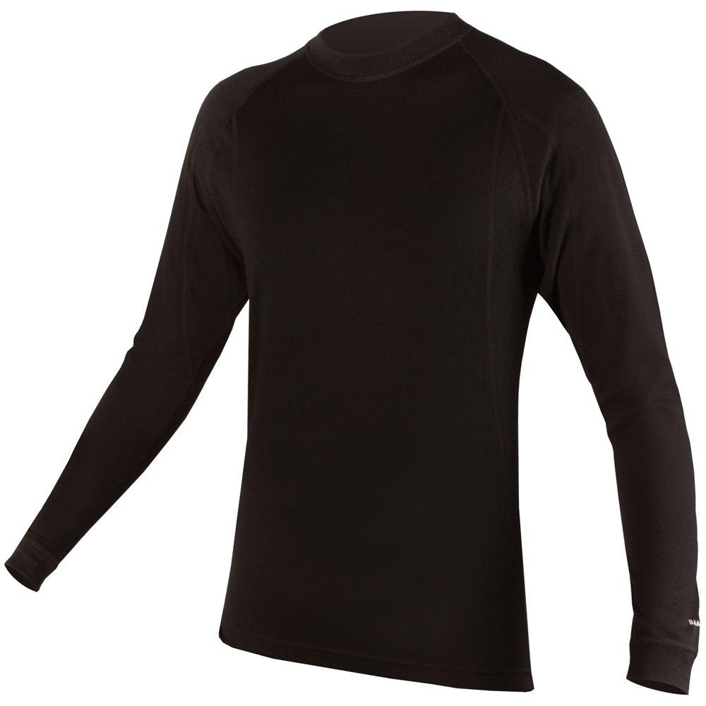 majica endura baabaa merino l/s  l/s baselayer  black