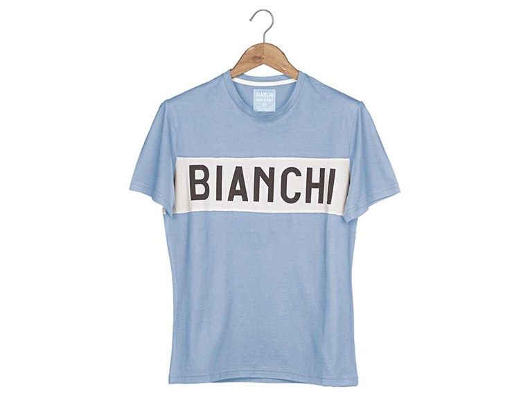majica bianchi t-shirt eroica azzurra