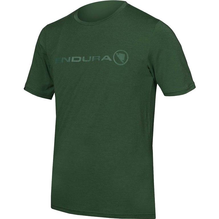 majica endura singletrack merino  forest green