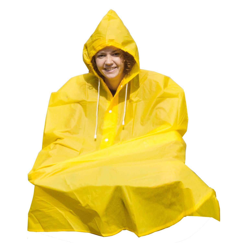 pelerina m-wave rain poncho yellow
