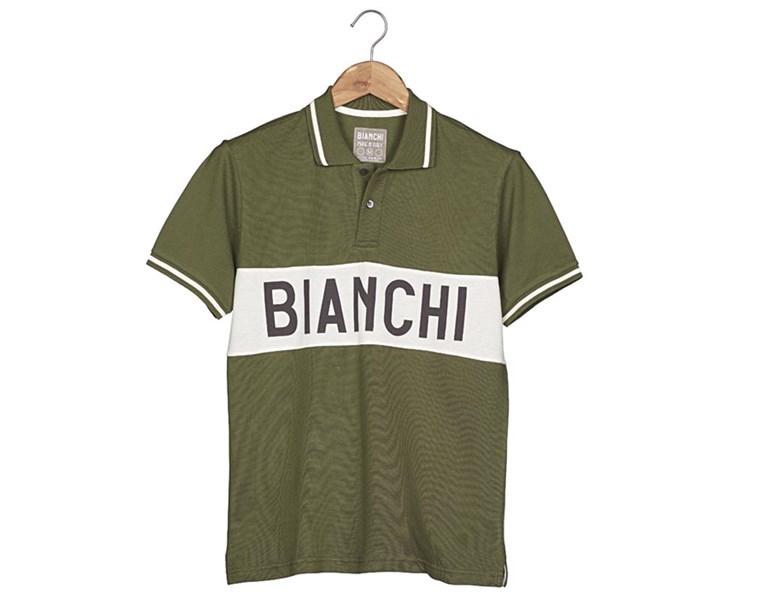 majica bianchi polo shirt  eroica military green
