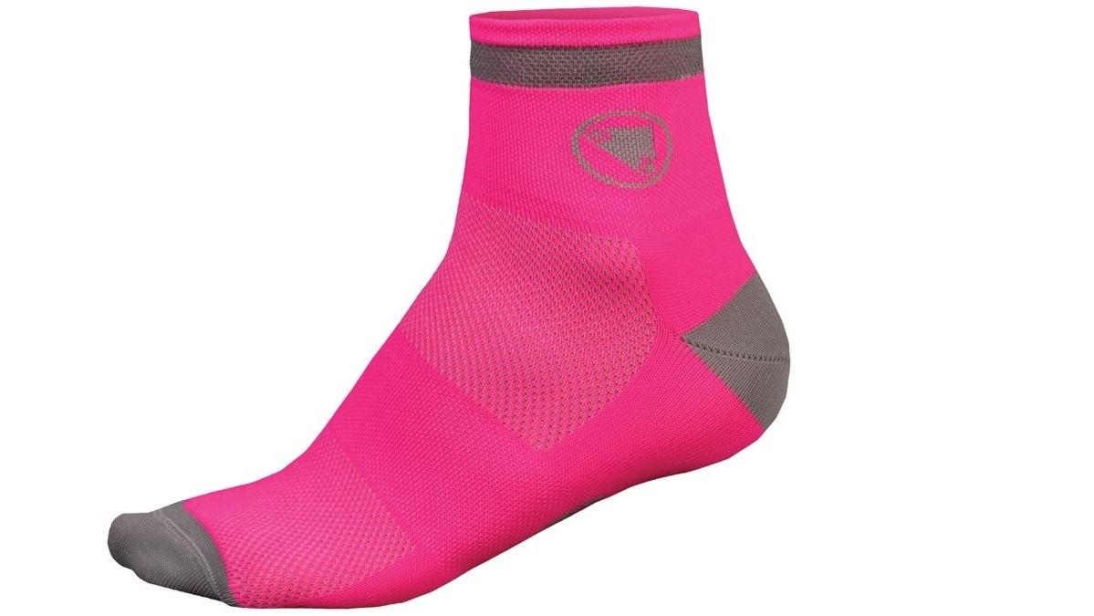 nogavice endura womens luminite 2-pack hi-viz pink