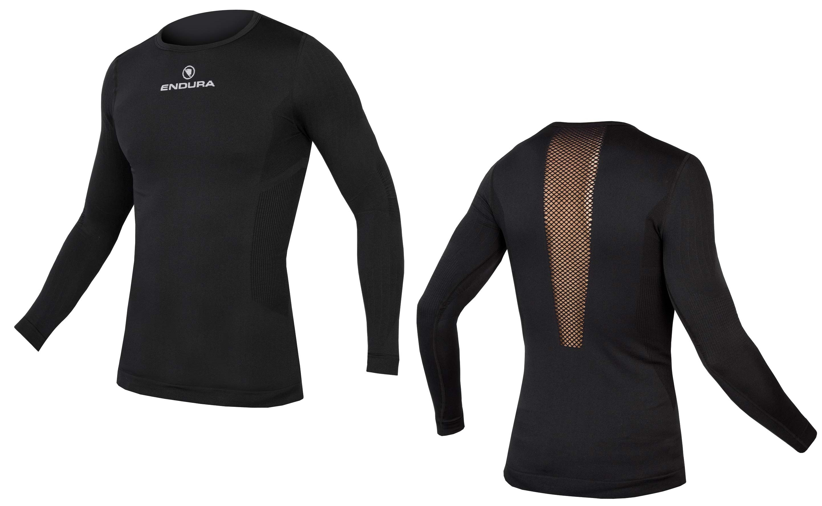 majica endura engineered l/s baselayer  black