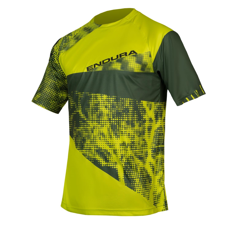 majica endura singletrack dots t ltd lime green