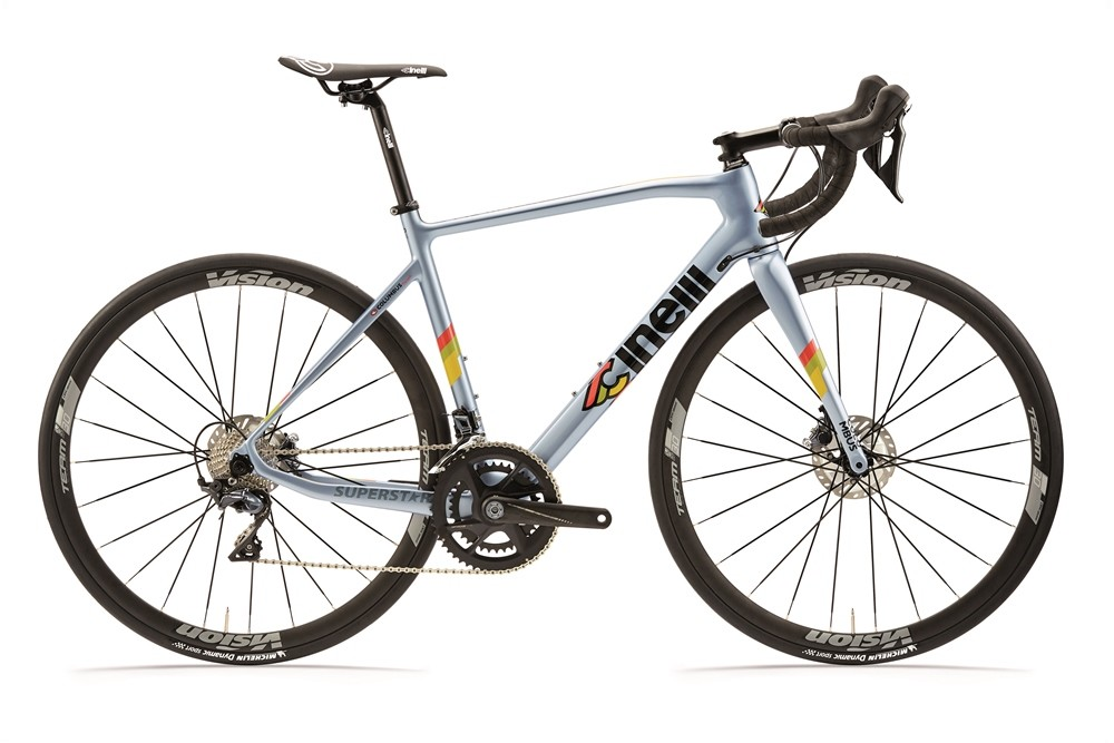 kolo cinelli superstar disc  ultegra clear blue 2020