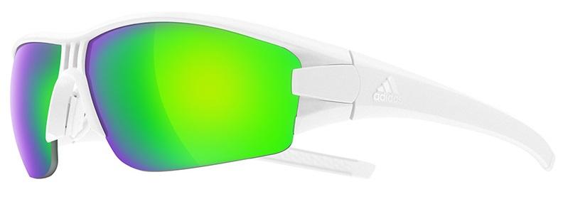 oČala adidas evil eye halfrim white matt/green mirror
