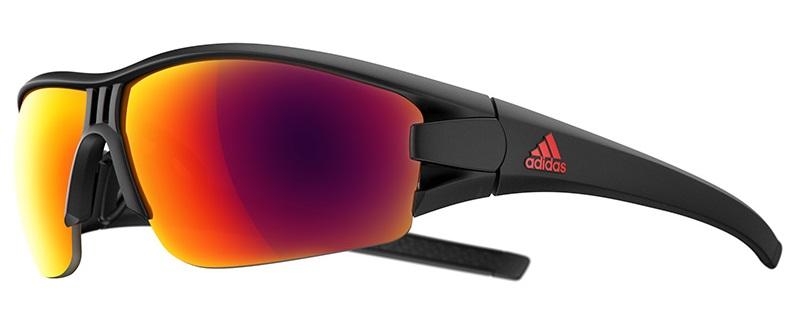 oČala adidas evil eye halfrim   matt black/red mirror
