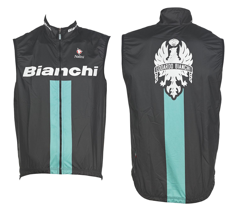 vetrovka bianchi sleeveless wind jacket black