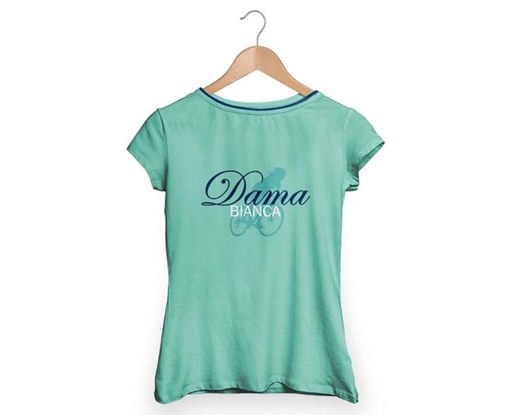 majica bianchi t-shirt dama bianca celeste