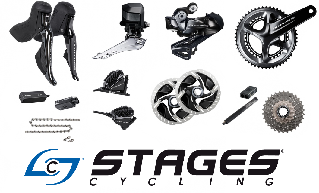 skupina shimano dura ace di2 r9170 disc 2x11p + stages r+l