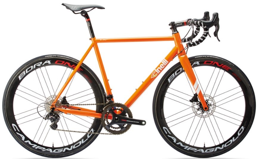 kolo cinelli nemo tig disc  ultegra orange blossom