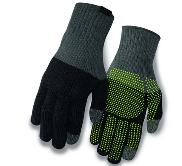 rokavice giro wi merino knit wool gray/black