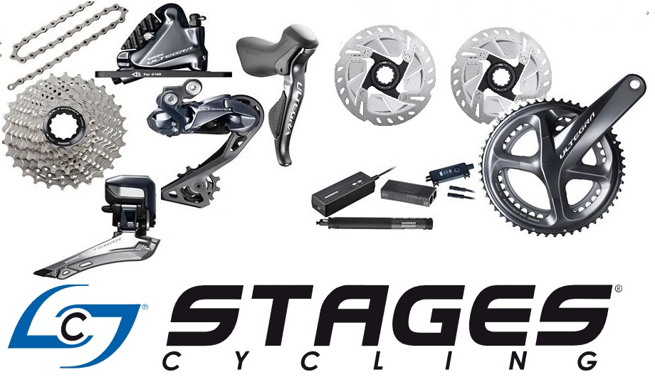 skupina shimano ultegra di2 r8050 disc 2x11p + stages r+l