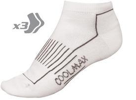 nogavice endura coolmax race ii sock low  3-pack white