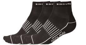 nogavice endura coolmax race ii sock 3-pack black