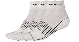 nogavice endura coolmax race ii sock 3-pack white