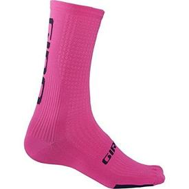 nogavice giro hrc team bright pink/black