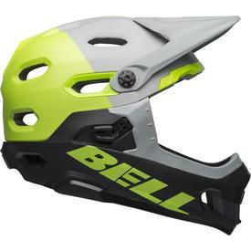 Čelada bell super dh mips matt/gloss dark gray/bright green/black