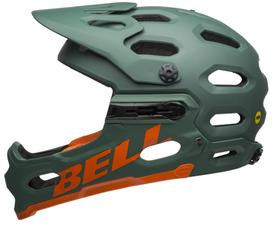 Čelada bell super 3r mipsmat dark green/orange