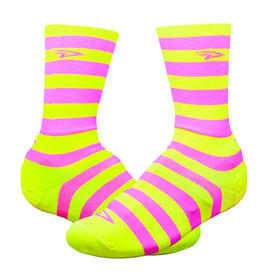 galoŠe defeet slipstreams d-logo   neon yellow pink
