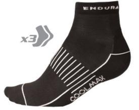 nogavice endura wms coolmax race sock 3-pack black