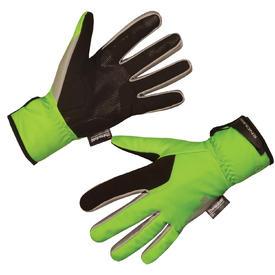 rokavice endura deluge ii hi-viz green