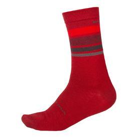 nogavice endura baabaa merino stripe red.