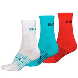 nogavice endura wms coolmax® race sock (triple pack) race sock (triple pack, uni size)