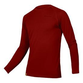 majica spodnja endura baabaa blend l/s rust red.