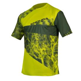 majica endura singletrack dots t ltd lime green