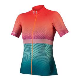 majica endura wms lines s/s jersey ltd hi-viz coral