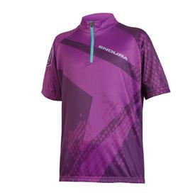 majica endura kids ray s/s jersey purple