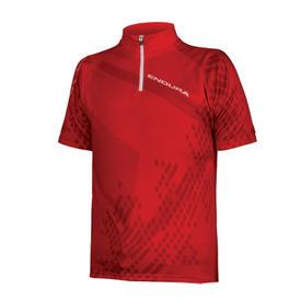 majica endura kids ray s/s jersey red
