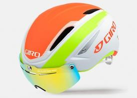 Čelada giro air attack shieldmatte white/ turquoise/ vermillion