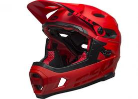 Čelada bell super dh mips matt/gloss crimson/black