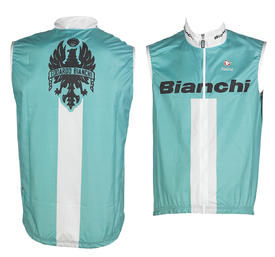 vetrovka bianchi sleeveless wind jacket celeste