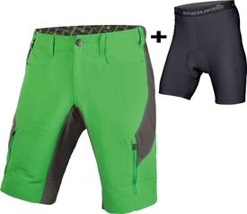 hlaČe endura singletrack iii short ltd with/liner kelly green