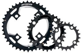 veriŽnik fsa mtb alloy black triple  bcd64 / 24z / 4h