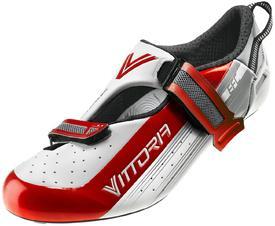 Čevlji vittoria tri pro velcro  ud carbon white/red