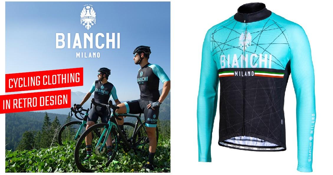 Kolesarska oblačila za ljubitelje koles Bianchi.