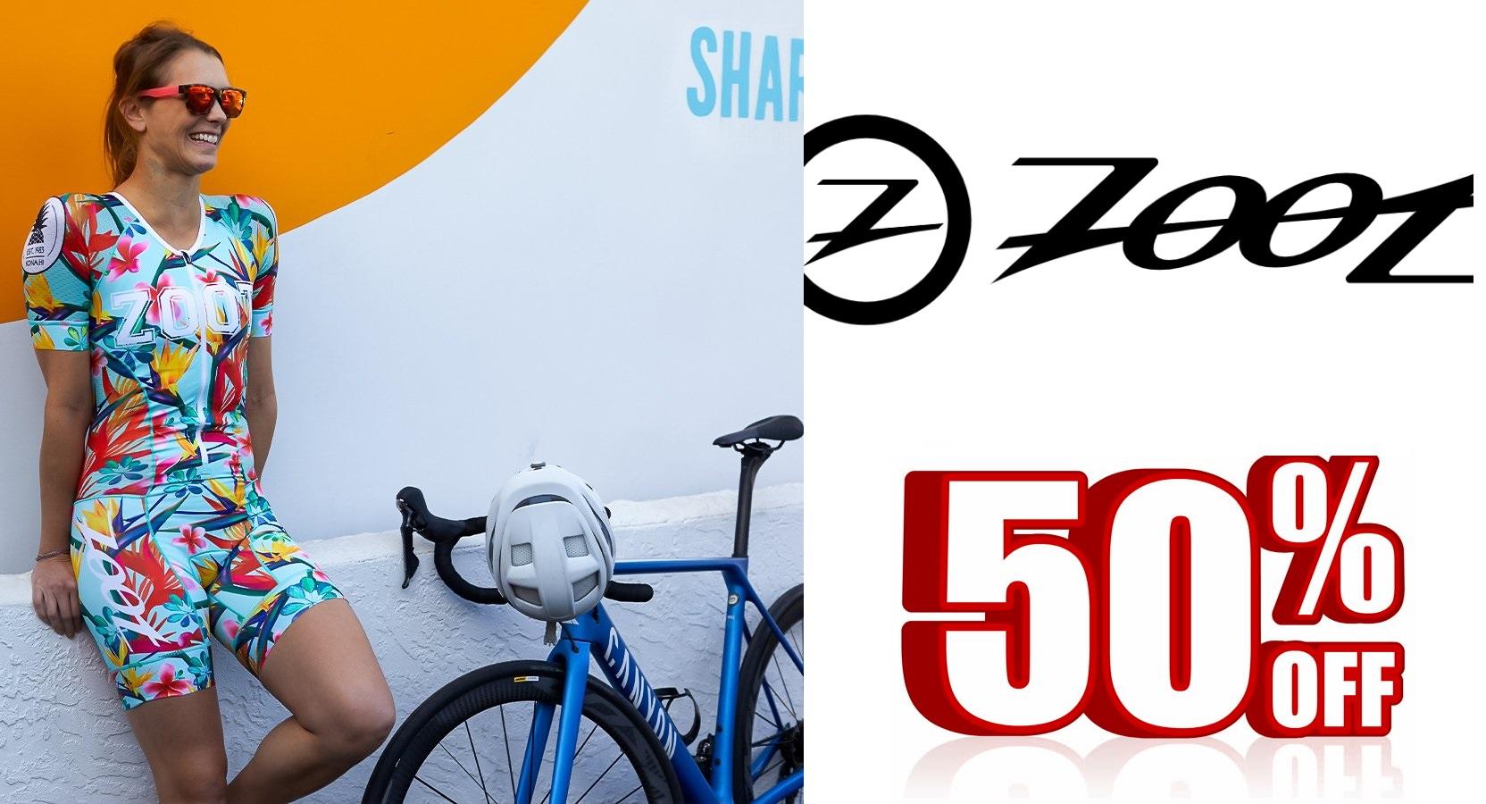 Za vsa triatlonska oblačila ZOOT velja popust 50% do konca meseca septembra oz. do razprodaje zalog!
