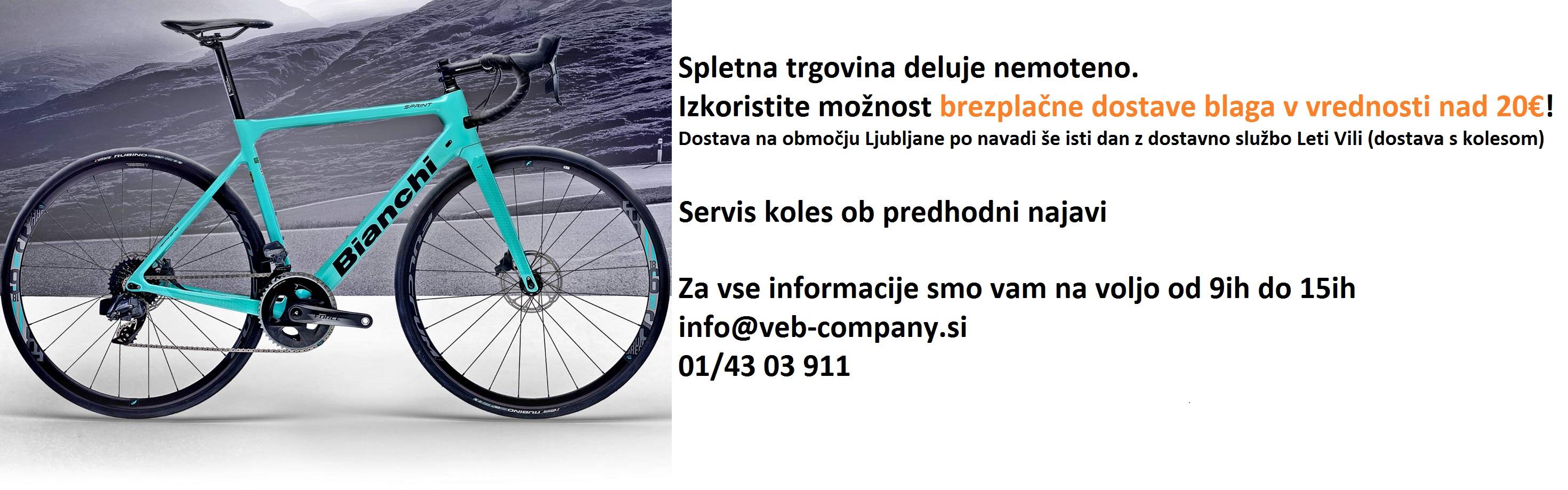 Na območju Ljubljane še isti dan z dostavo LETI VILI na kolesu!
